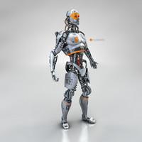 male cyborg c4d