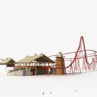 3dsmax roller coaster