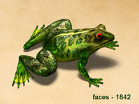 3d Model of  frog that jump