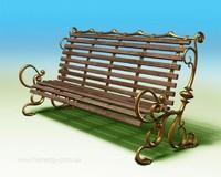 3d Model of garden bench