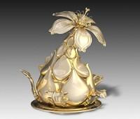 The unusual flower - interior sculpture