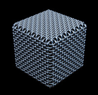 cube from a wire grid