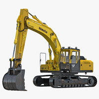 3d max tracked excavator rigged