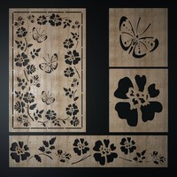 3d model decorative laser cutting pattern