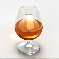 brandy glass 3d model
