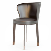 3d model italian chair ode giorgetti