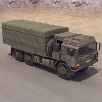 sx44 army truck 3d model