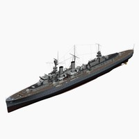 light cruiser emden ww2 german 3d max
