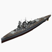 pocket battleship spee ww2 german 3d model
