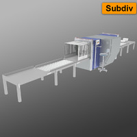 3d model airport x-ray machine