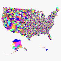 3ds max united states counties