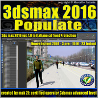 3ds max 2016 Populate vol 1.0 CD Front