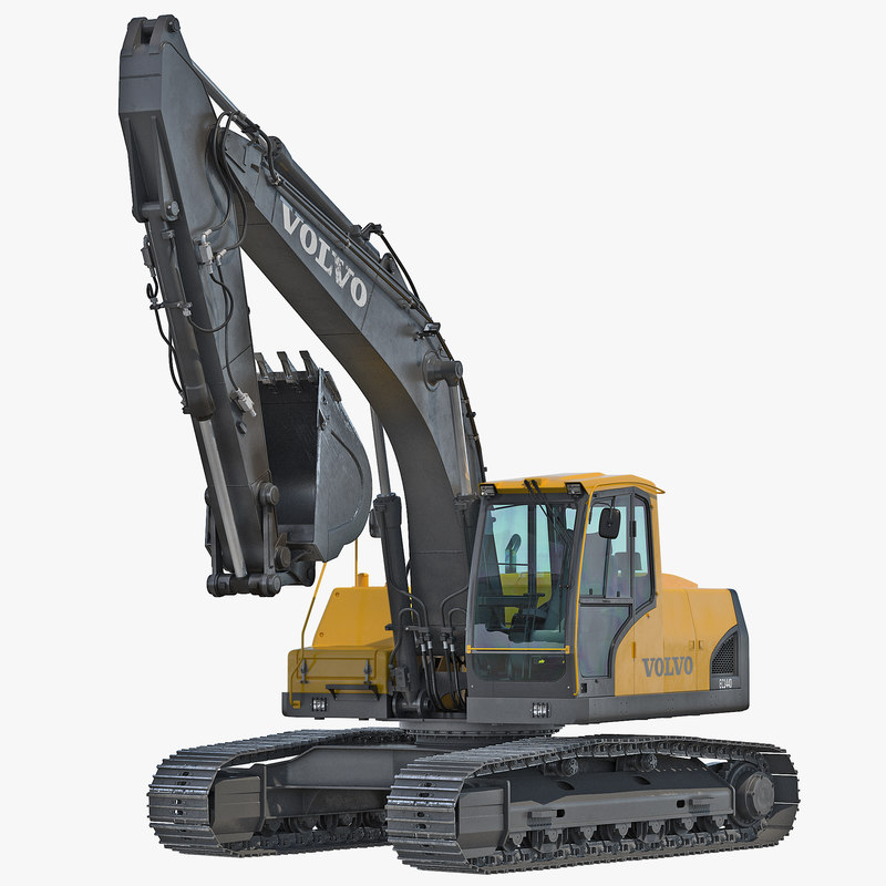 Tracked Excavator Volvo Rigged 3d model 001.jpg