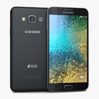 samsung galaxy e7 black 3d model