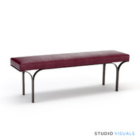 counter height bench 3d max