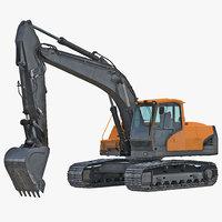 tracked excavator generic 3d max