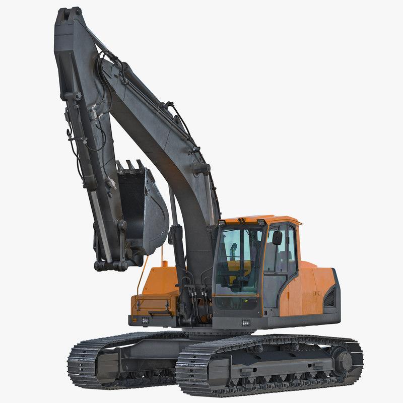 Tracked Excavator Generic Rigged 3d model 001.jpg