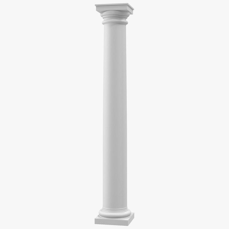 Tuscan Order Column 3d C4d