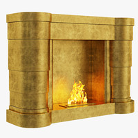 brabbu brahma fireplace 3d model