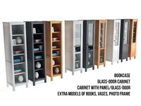3d model ikea bookcase glass-door cabinet