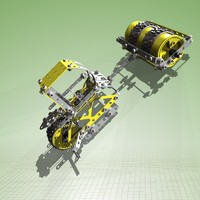 meccano road roller complete 3d max