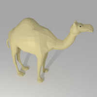 3d cartoon camel