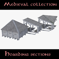 3d model castle hoarding sections