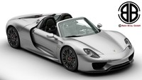 Porsche 918 Spyder with detachable roof