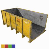 dumpster colors contains 3d model