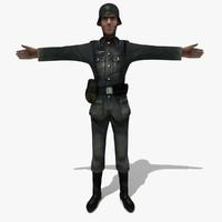 soldier german man 3ds
