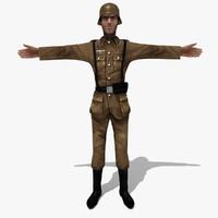 3ds soldier german man