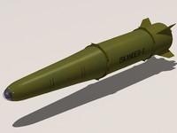 3d iskander 9m723-1 missile model
