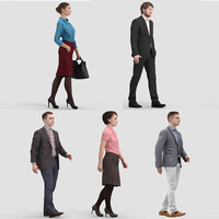 3ds max realistic business human