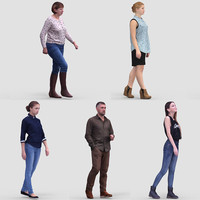 3D Human Model Vol.1 Casual Walking People