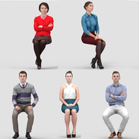 3D Human Model Vol. 2  Business Sitting People