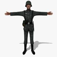 soldier german man 3d obj