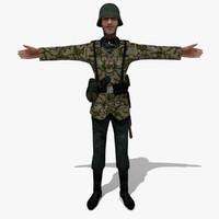 soldier german man 3d model