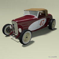 Ford model B roadster Hot Rod (with roof)