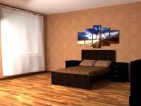3d model bedroom ikea furniture