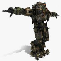 3d model robot atlas titan