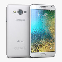 3d model samsung galaxy e7 white