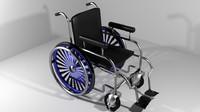 hospital furniture wheelchair 3d model