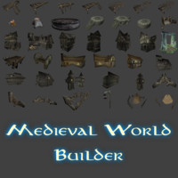 3d medieval world builder houses