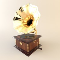 3ds max gramophone furniture