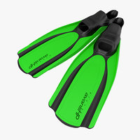 3d swim fins 2 green