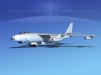 stratojet boeing b-47 bomber 3d obj