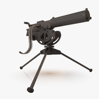 3d model machine gun