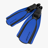 swim fins 2 blue 3d model