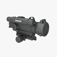 3d model aimpoint m4 comp 2moa