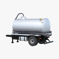 3d model septic tank trailer